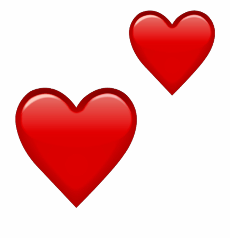 Double Red Heart Emoji, HD Png Download (155459 ).