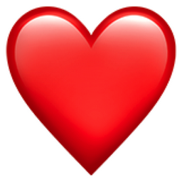 Red Heart Emoji (U+2764, U+FE0F).