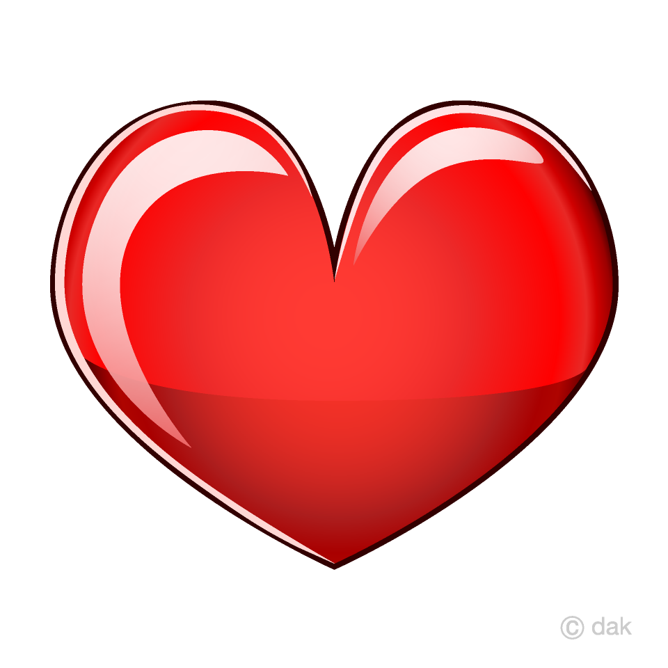 Glossy Red Heart Clipart Free Picture|Illustoon.