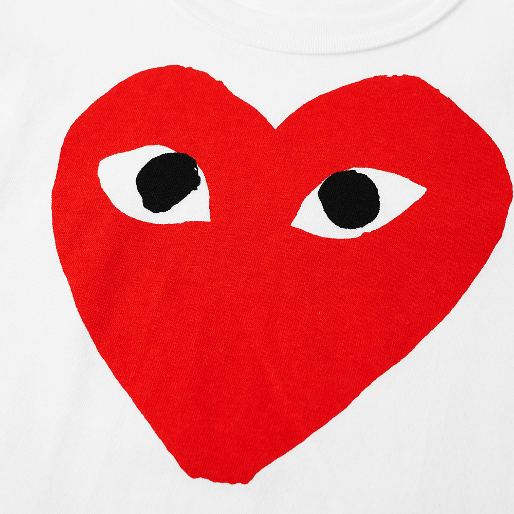 Comme des Garcons Play Kids Red Heart Logo Tee.