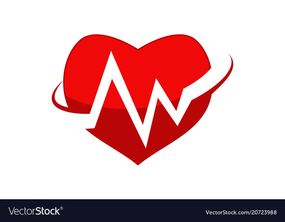 Medical heart logo design template.