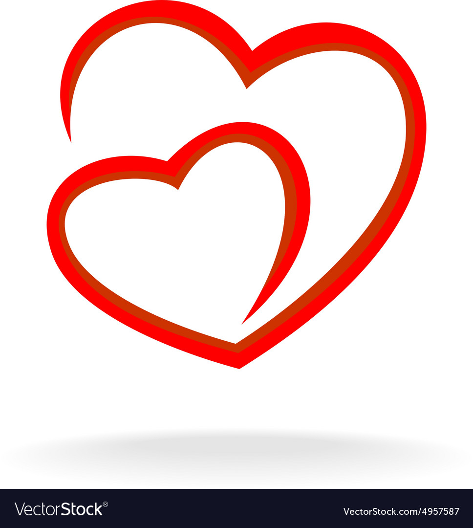 Two hearts logo.