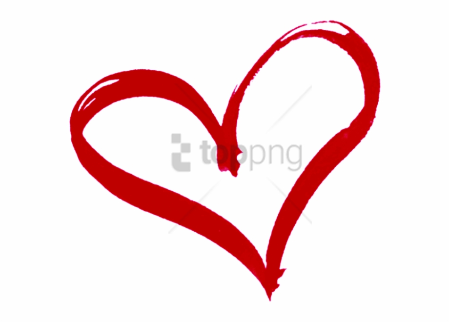 Red Heart Outline Png.