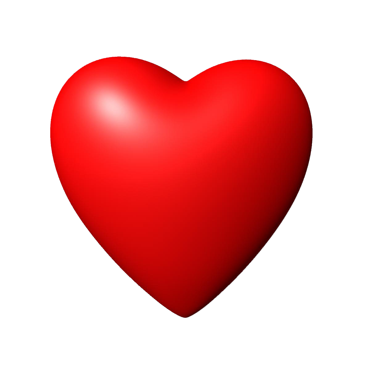 3D Red Heart PNG Image.