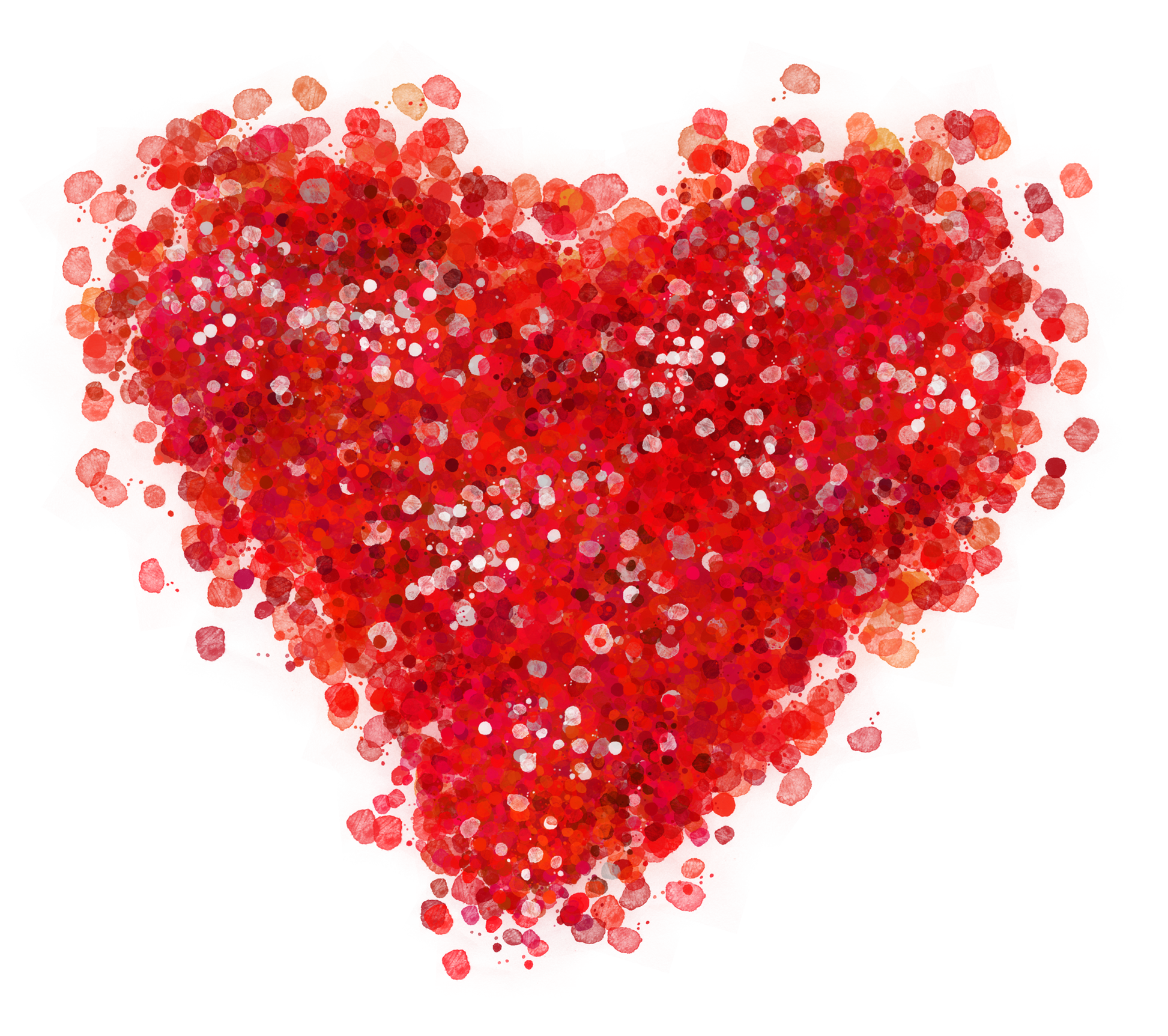 Decorative Red Heart PNG Clipart Picture.