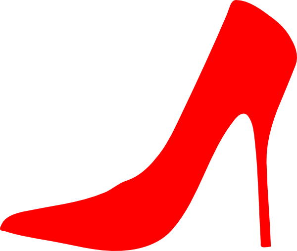 Red High Heel Clipart.