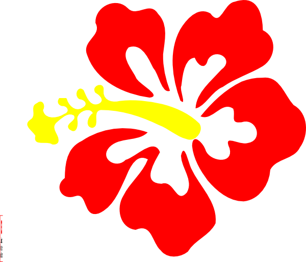 Red Hibiscus Clip Art at Clker.com.