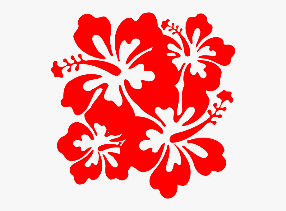 Red Hawaiian Flower Red Flower Clipart Hibiscus Pencil.