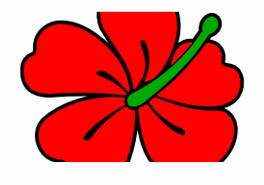 Red Hibiscus Flower Clip Art Free Borders And Clip.