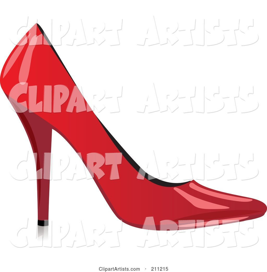 Logo Design Of A Shiny Red High Heel Clipart by Eugene.