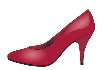 High Heels Red Shoe Clip Art.