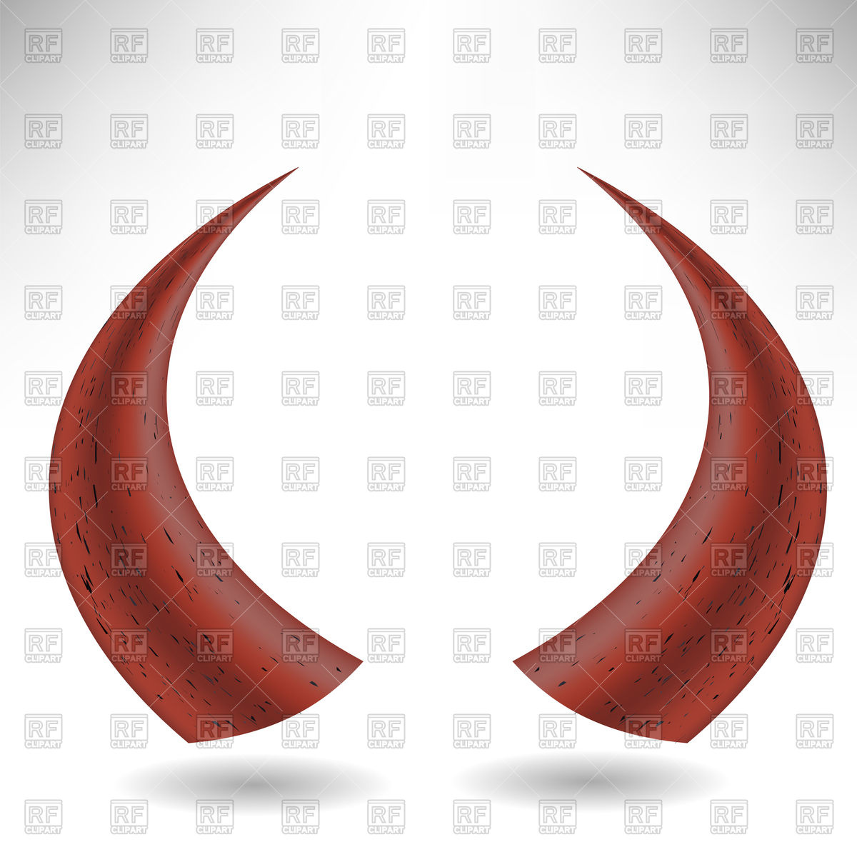 Halloween red horns, devil's horns Vector Image #117171.