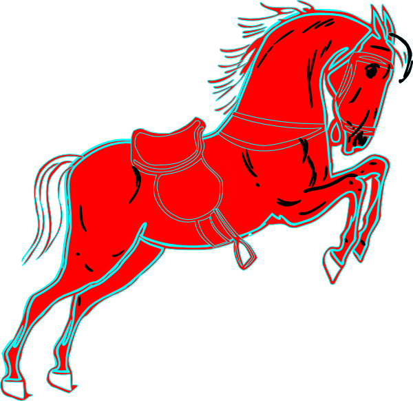 Red Horse White Clip Art at Clker.