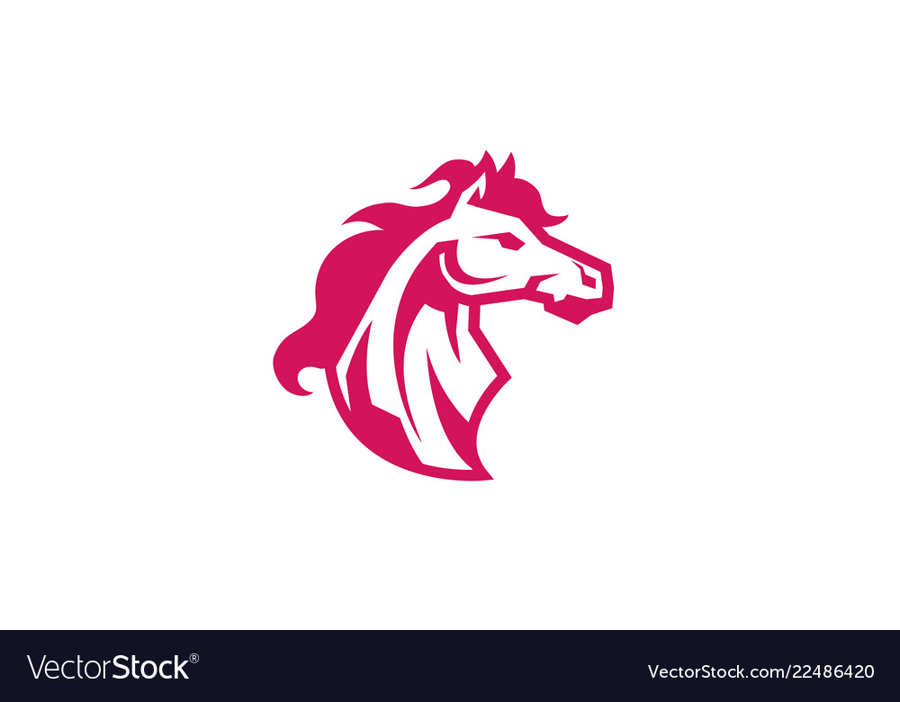Red horse logo.