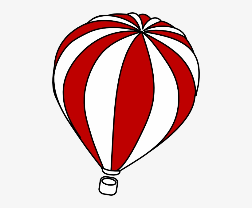 Hot Air Balloon Clip Art Outline.