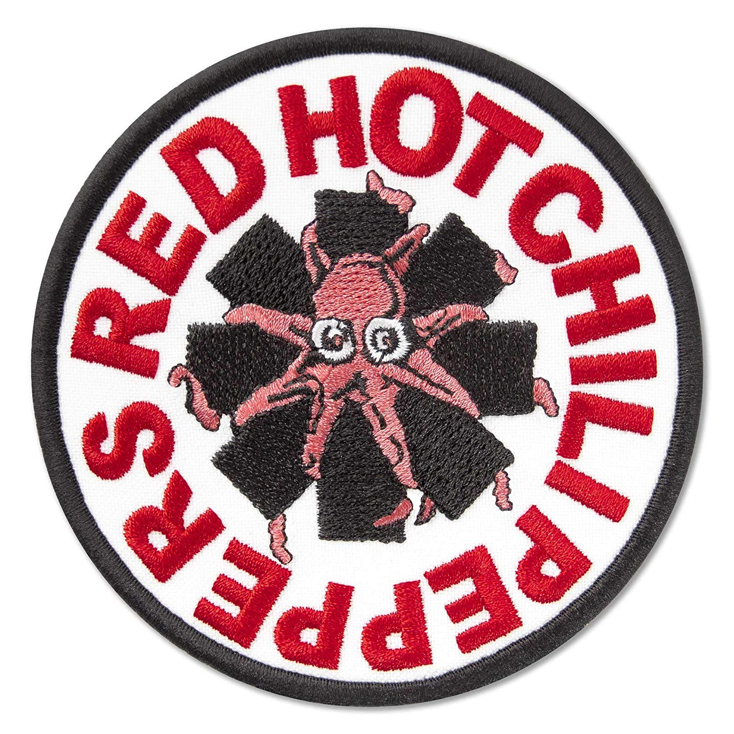 Red Hot Chili Peppers Logo with Octopus Music Rock Band Embroidered Patch  Iron On (3.7\
