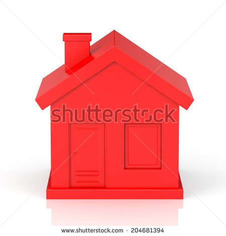 Red House Stock Images, Royalty.
