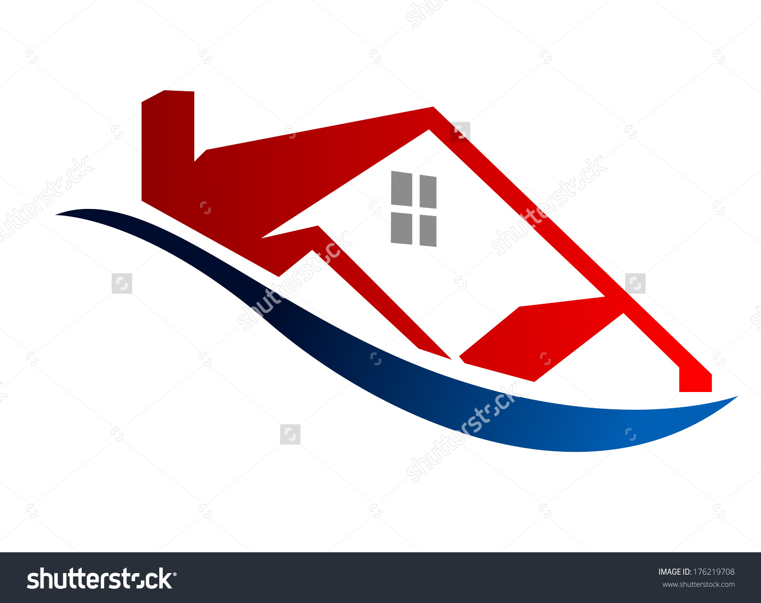 Cartoon Illustration Symbol Depicting Eco House Stock Vector.