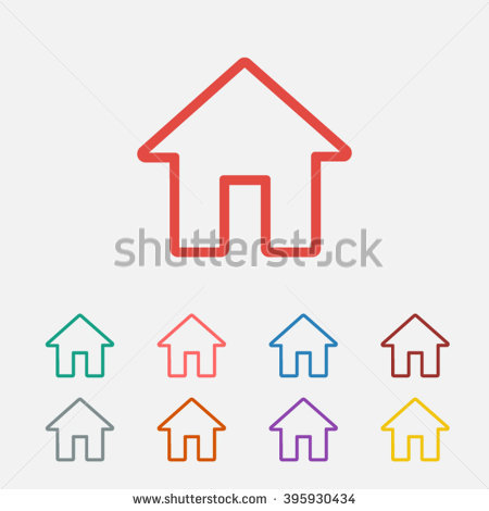 House Outline Stock Images, Royalty.