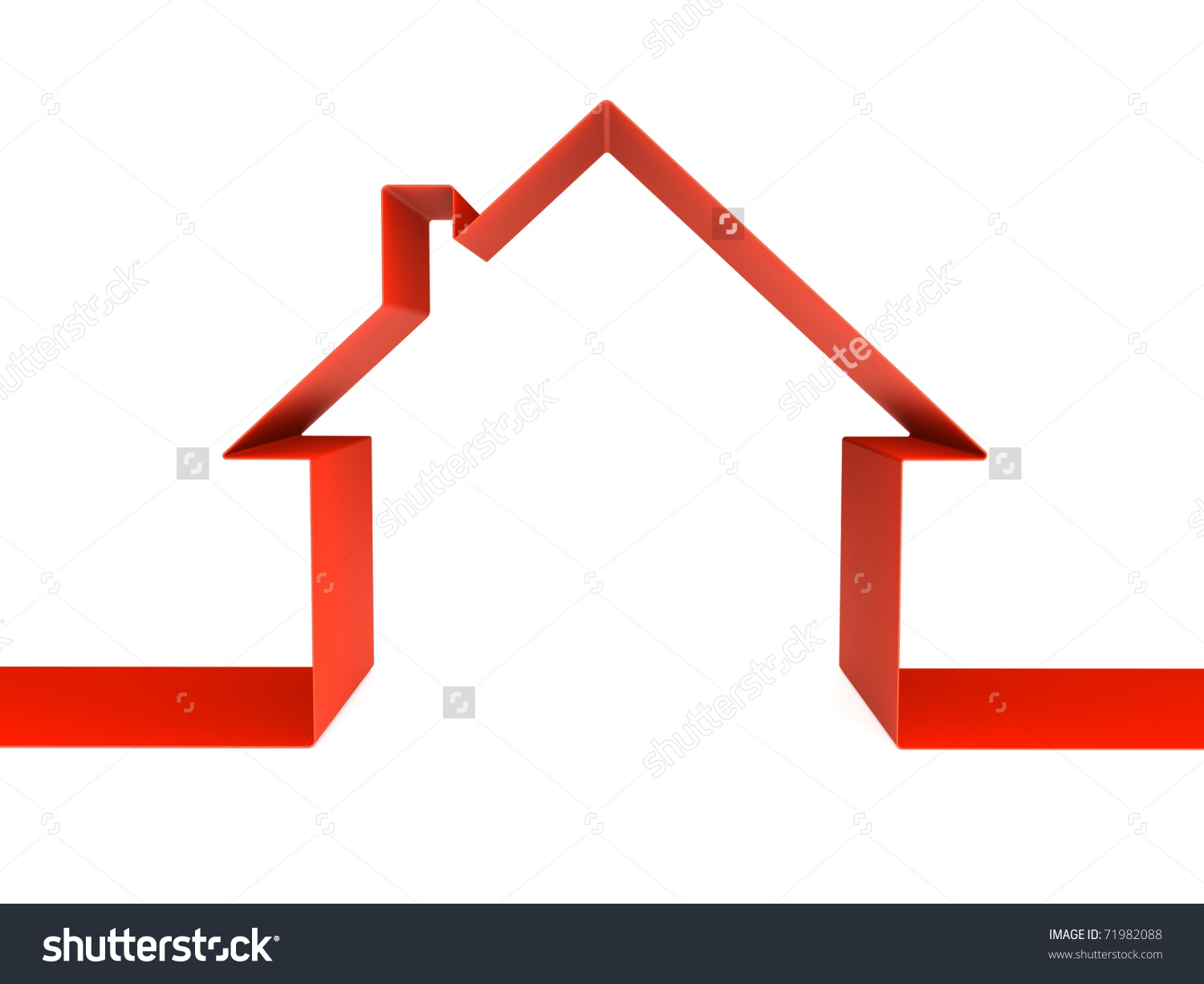 Red House Clip Art.