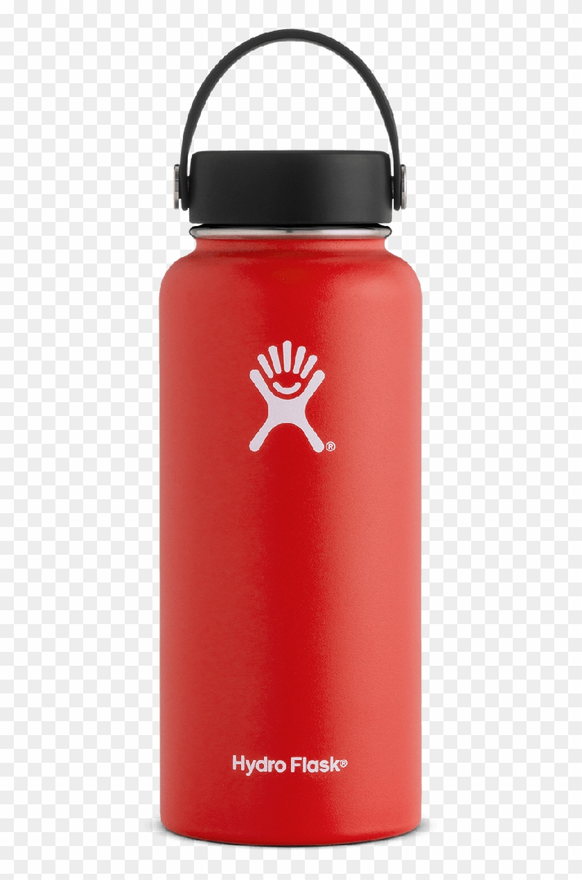 Red 32 Oz Hydro Flask, HD Png Download.