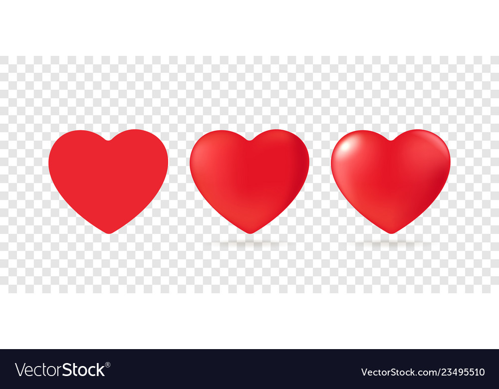 Red heart design icons clipart isolated on.