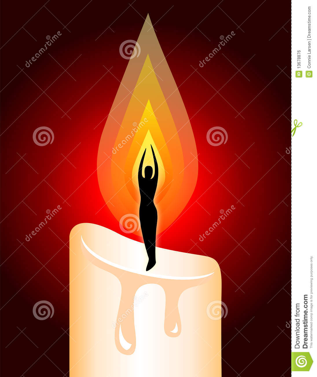 Illumination Meditation Candle/ai Royalty Free Stock Image.