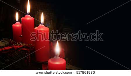 Christmas Candles Stock Photos, Royalty.