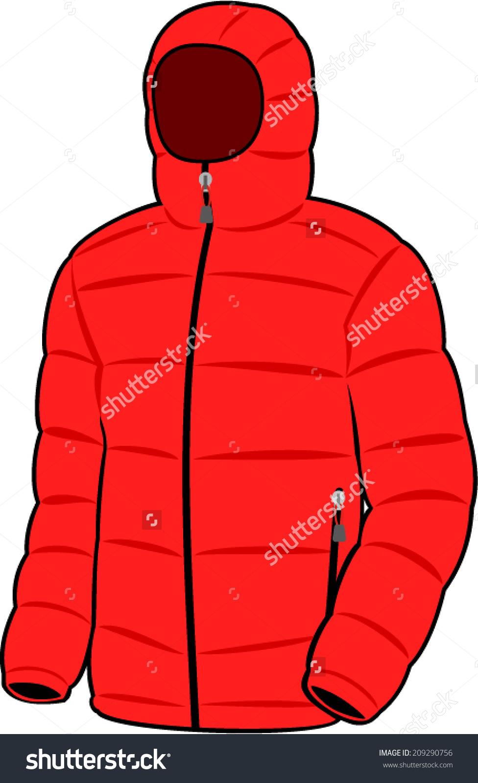Vector Red Down Jacket Stock Vector 209290756.