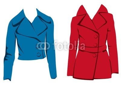 Red jacket clipart.