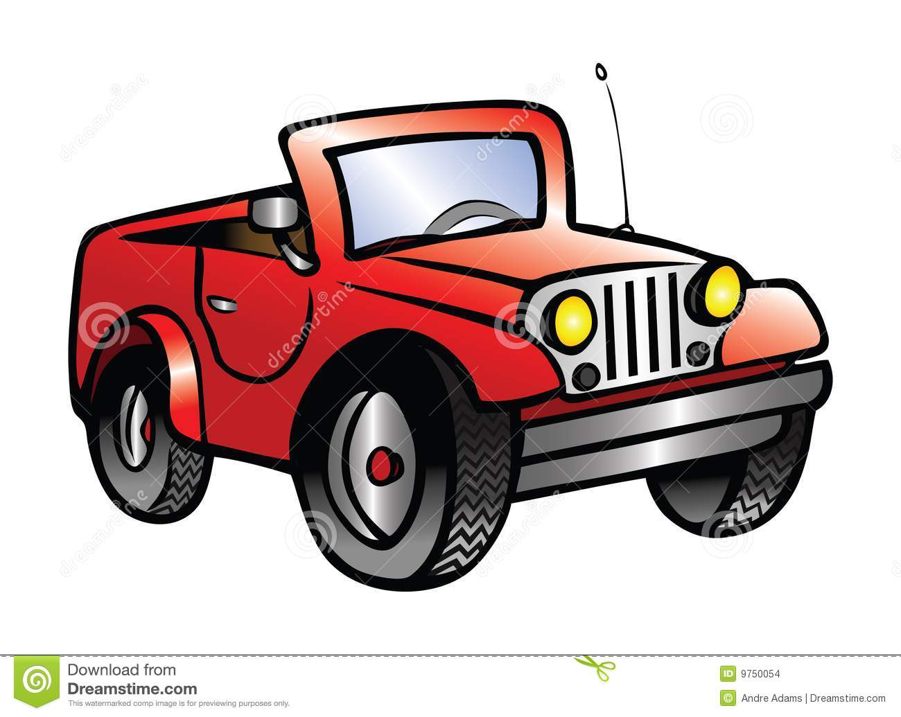 Jeep Ride Stock Illustrations.