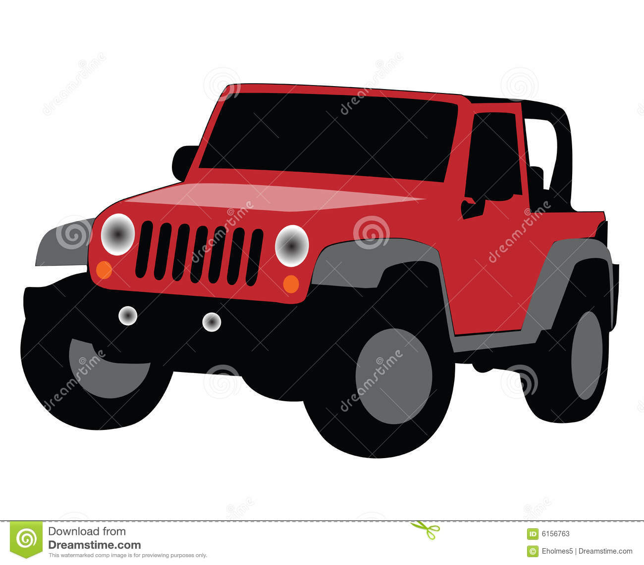 Jeep Wrangler Stock Illustrations.