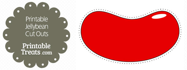 Printable Red Jellybean Cut Outs — Printable Treats.com.