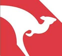 In Shape of Red Kangaroo Logo.