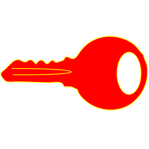 Simple red key clipart, cliparts of Simple red key free.