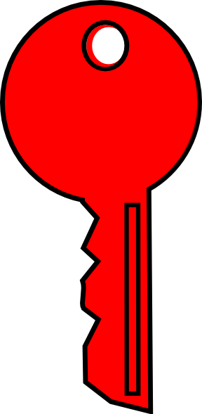 Red Key Clipart.