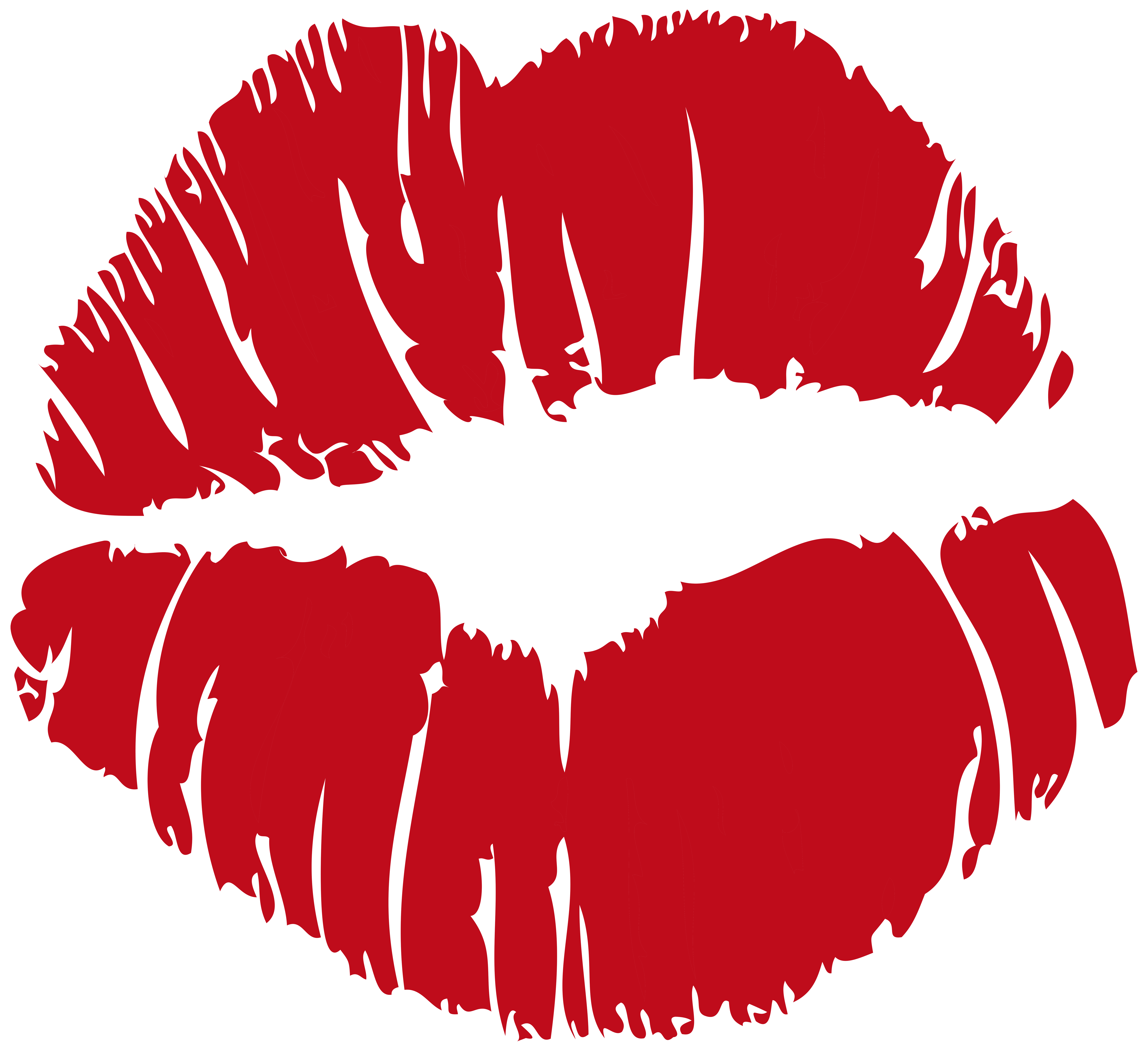Red Kiss Print PNG Clip Art PNG Image.