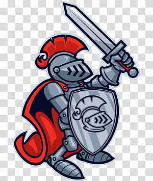 Red Knight transparent background PNG cliparts free download.