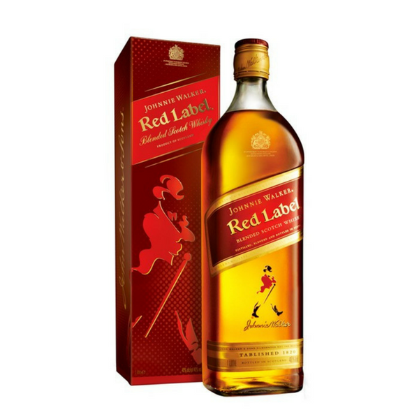 Johnnie Walker Red Label whisky 1ltr..