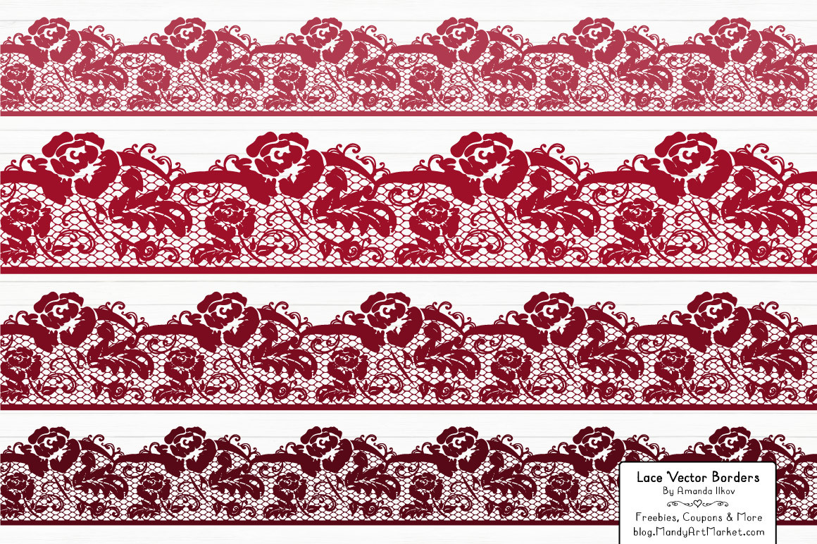 Lace Border Clipart in Ruby.