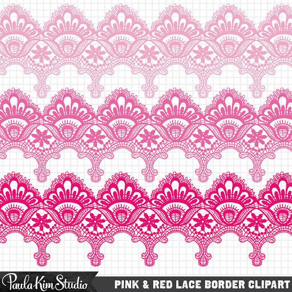 Red lace clip art pink lace clipart lace clipart lace clip.
