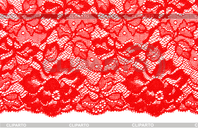 Red lace clipart.
