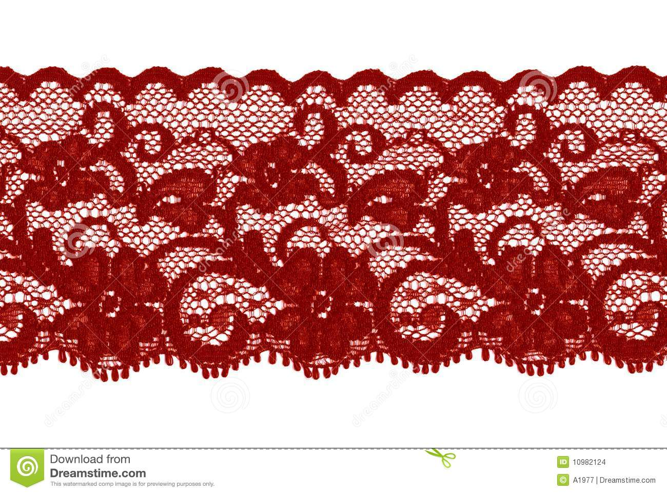 Red Lace Royalty Free Stock Photography.