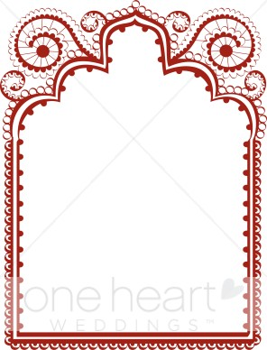 Red Lace Border.