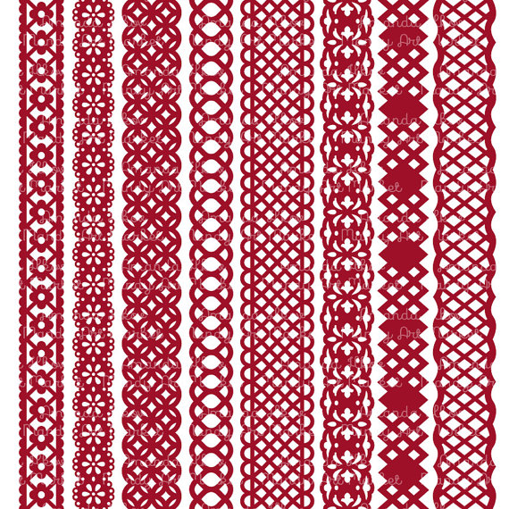 red lace clipart