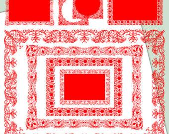 Digital Scrapbook wedding clip art Frames Lace by RomanticLetters.