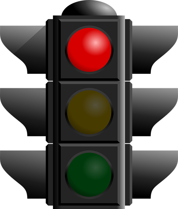 Free vector graphic: Red Light, Traffic, Light, Symbols.