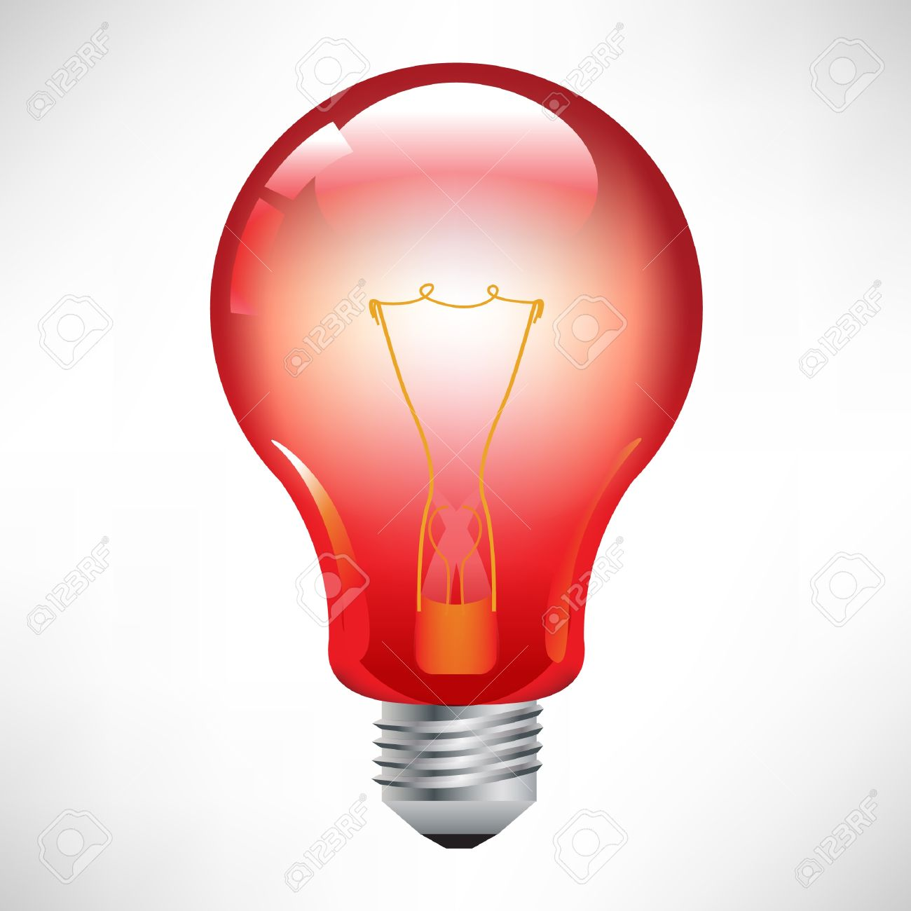 Red Light Bulb Royalty Free Cliparts, Vectors, And Stock.