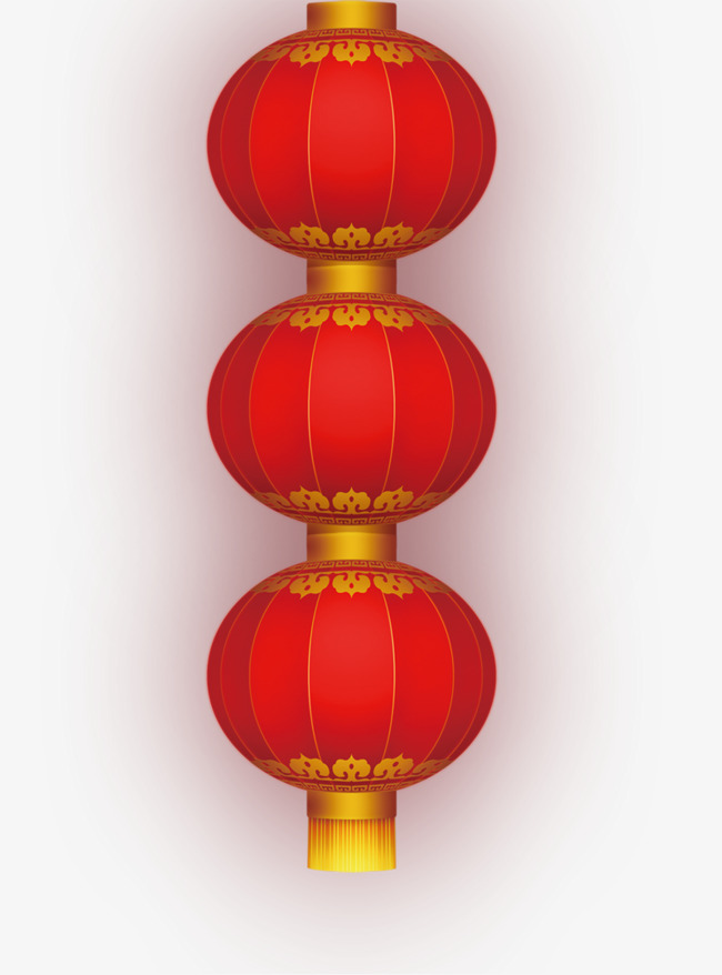 Three Red Lanterns, Lantern, Red Lantern, Red PNG Image and.