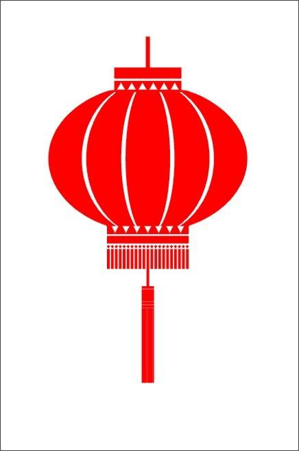 Chinese new year lanterns clipart.